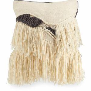 Cloud 9 Design Handwoven Wool Tassel Beaded Pillow